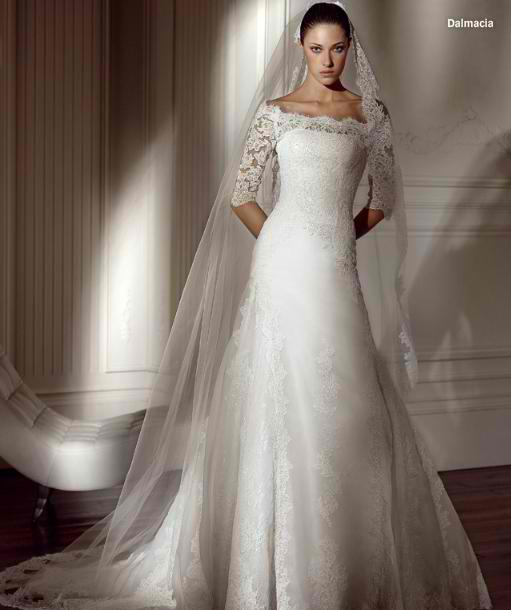 Modest wedding dresses momomod modest style blog modest dalmacia wedding gown junglespirit Image collections