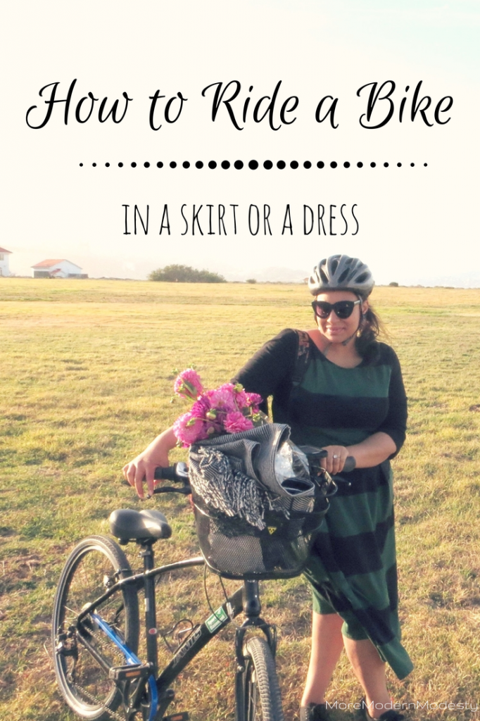 How to Ride a Bike in a Skirt or a Dress