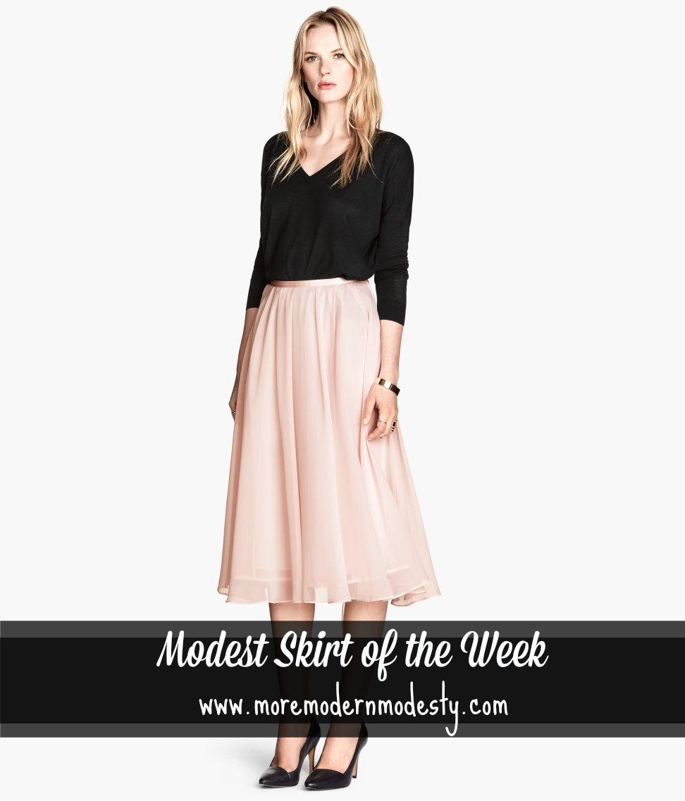 Winsday: Modest Midi Skirt from H&M - MoMoMod - Modest Style Blog ...