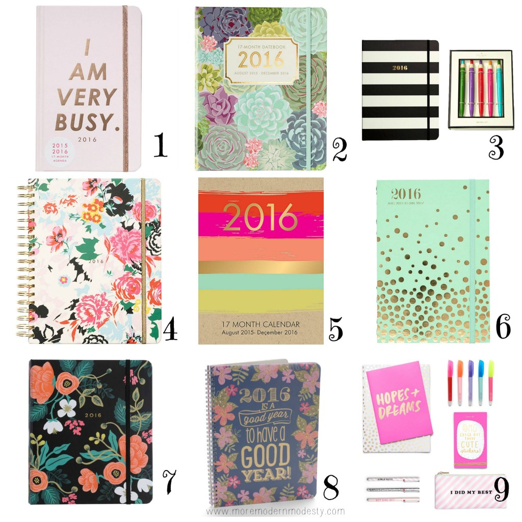 17 Month Planners and Agendas