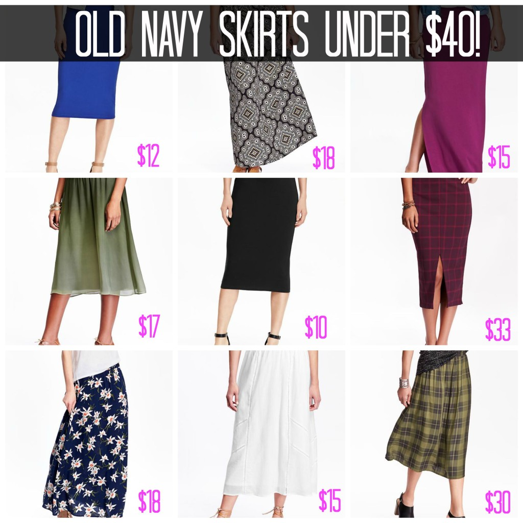Modest Old Navy Skirts