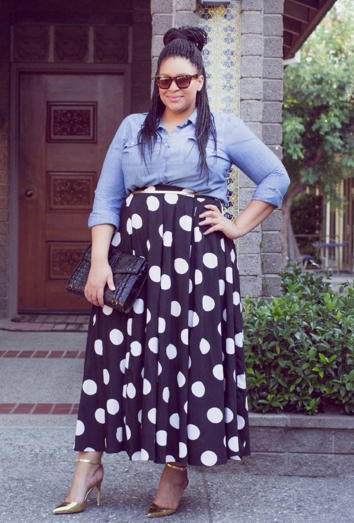 Modest Polka Dot Skirt