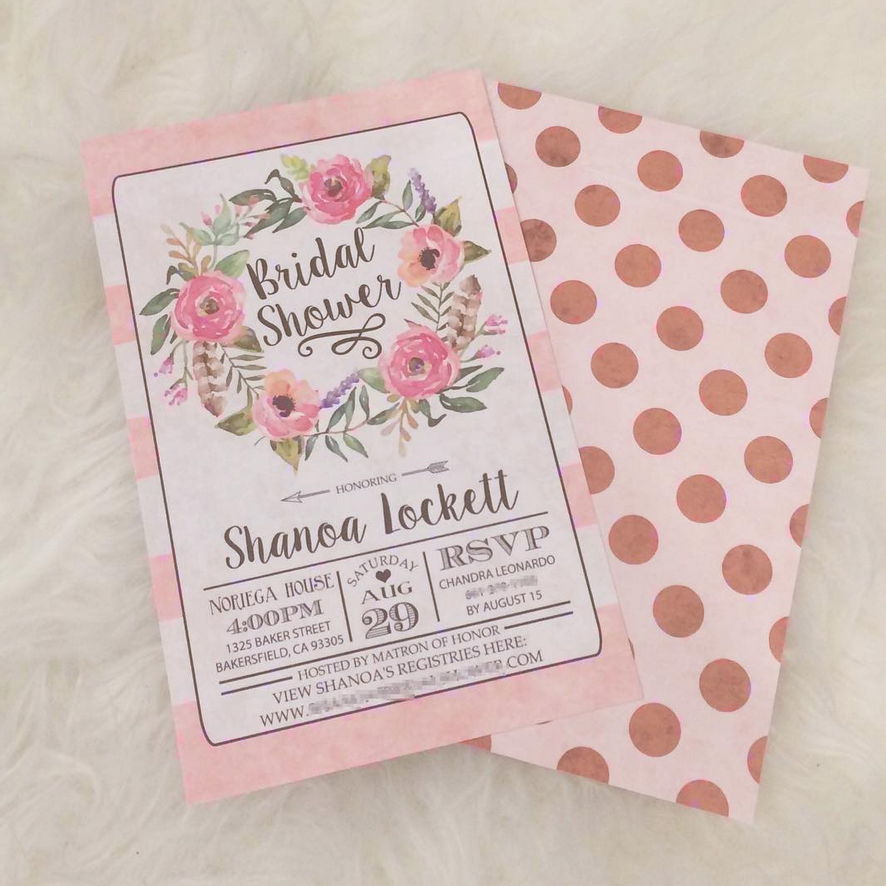 Etsy Bridal Shower Invitations